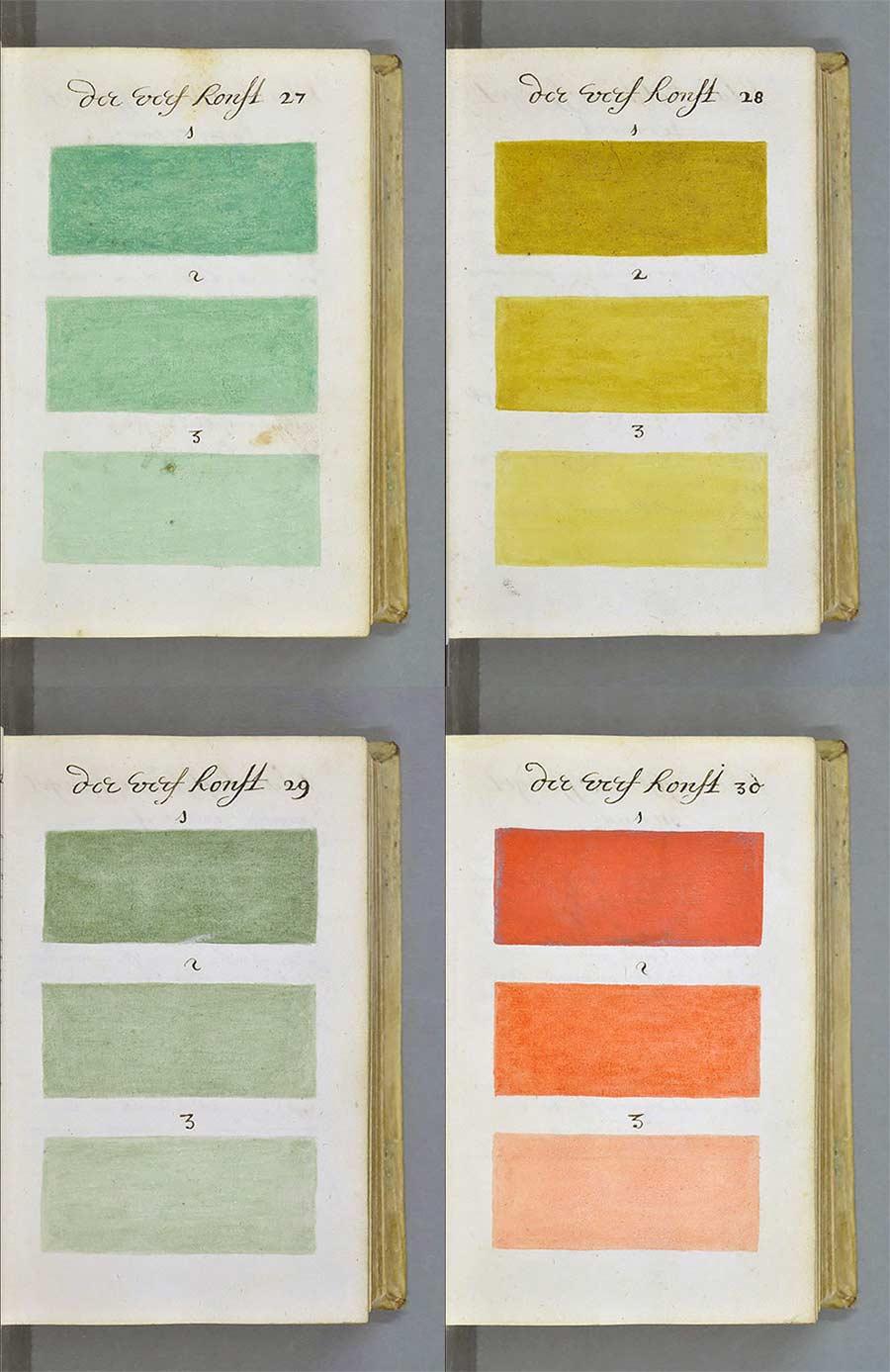 Versuch aus 1692, alle Farben in einem Buch zu sammeln farbenbuch_05