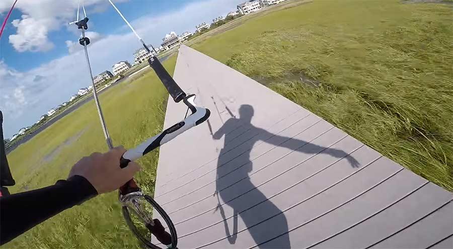 Spektakuläres Kitesurfing aus der Ego-Perspektive