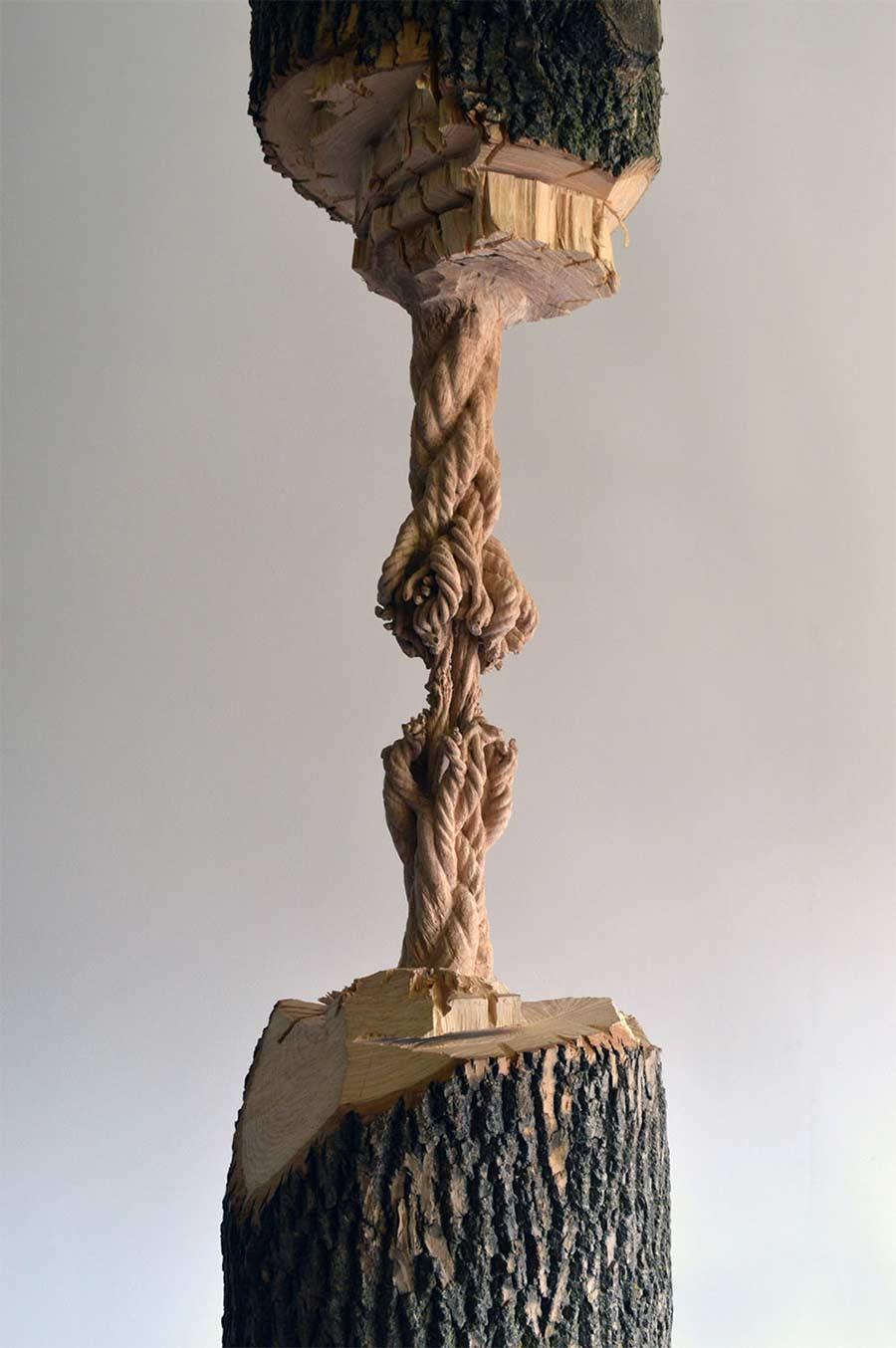 Dieser Baumstamm hängt am hölzernen Faden schrodingers-wood_03