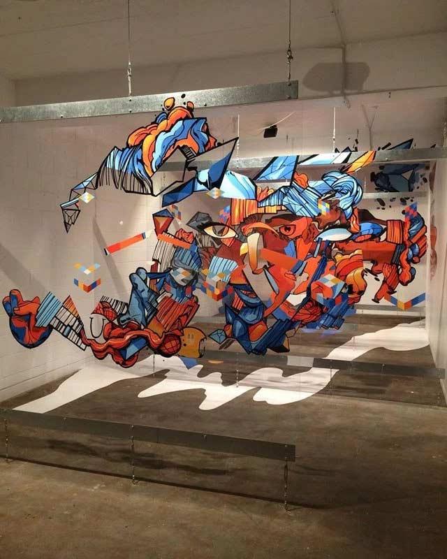 Graffitis auf mehreren Glasebenen sofles-multi-layer-artworks_05