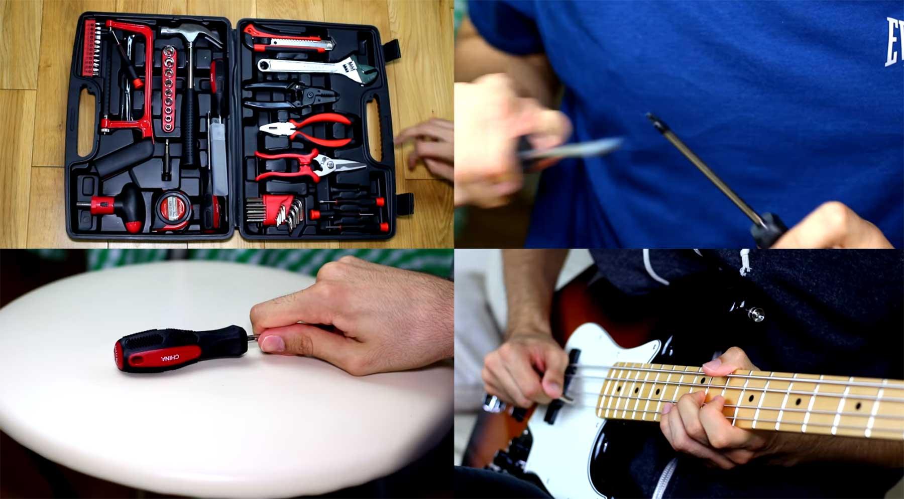 Tool-Songs mit Werkzeugen gespielt
