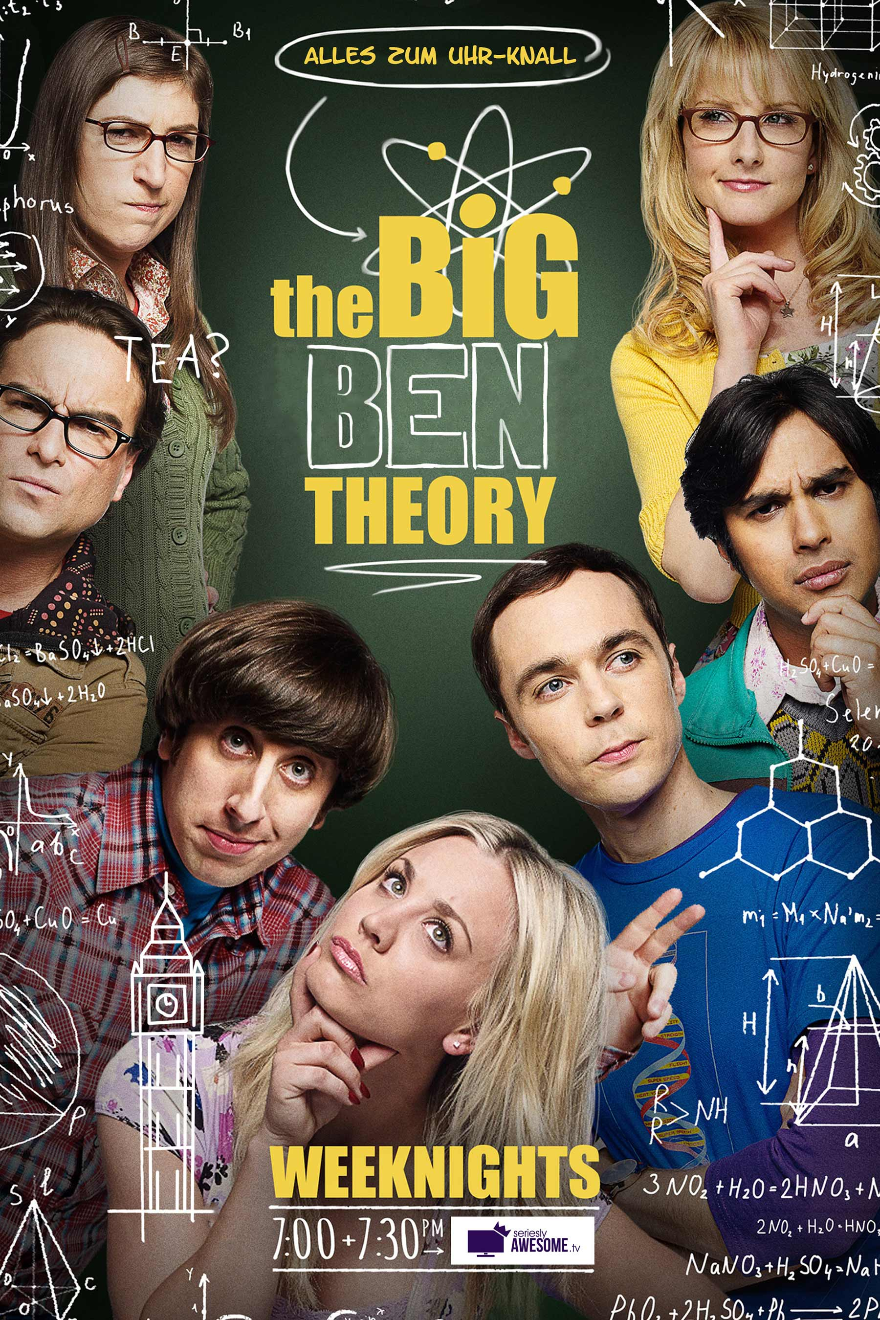seriesly silly Serienposters 1800_sAWE-Poster_04_The-Big-Ben-Theory