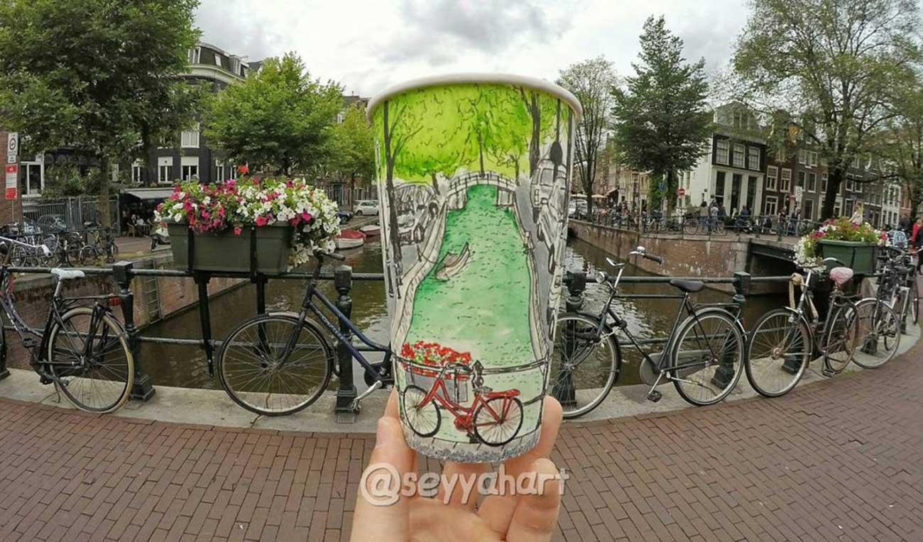 Reise-Erinnerungen auf Kaffeebechern festgehalten Berk-Armagan-becherreisen_04