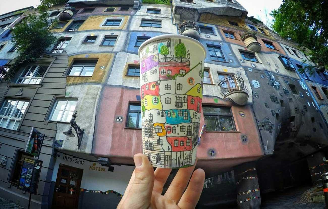 Reise-Erinnerungen auf Kaffeebechern festgehalten Berk-Armagan-becherreisen_07