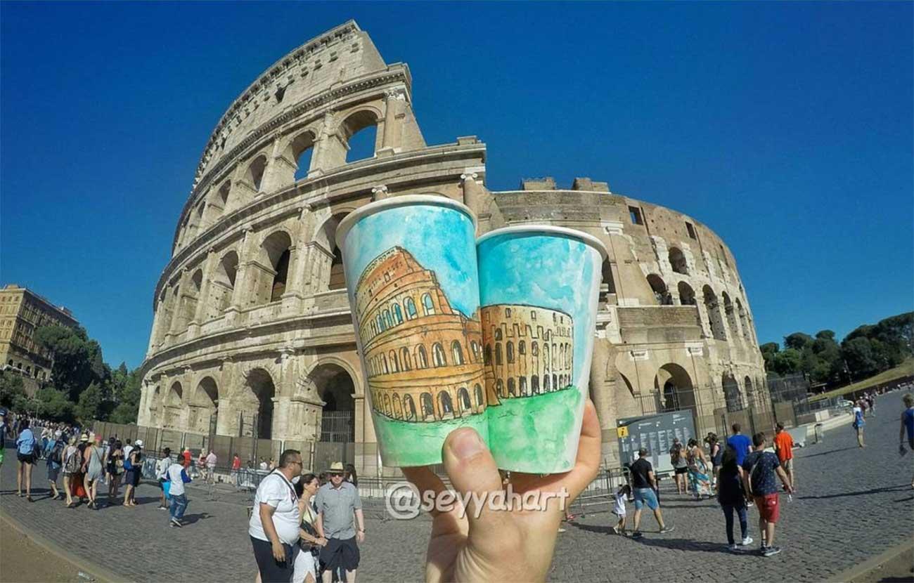 Reise-Erinnerungen auf Kaffeebechern festgehalten Berk-Armagan-becherreisen_10