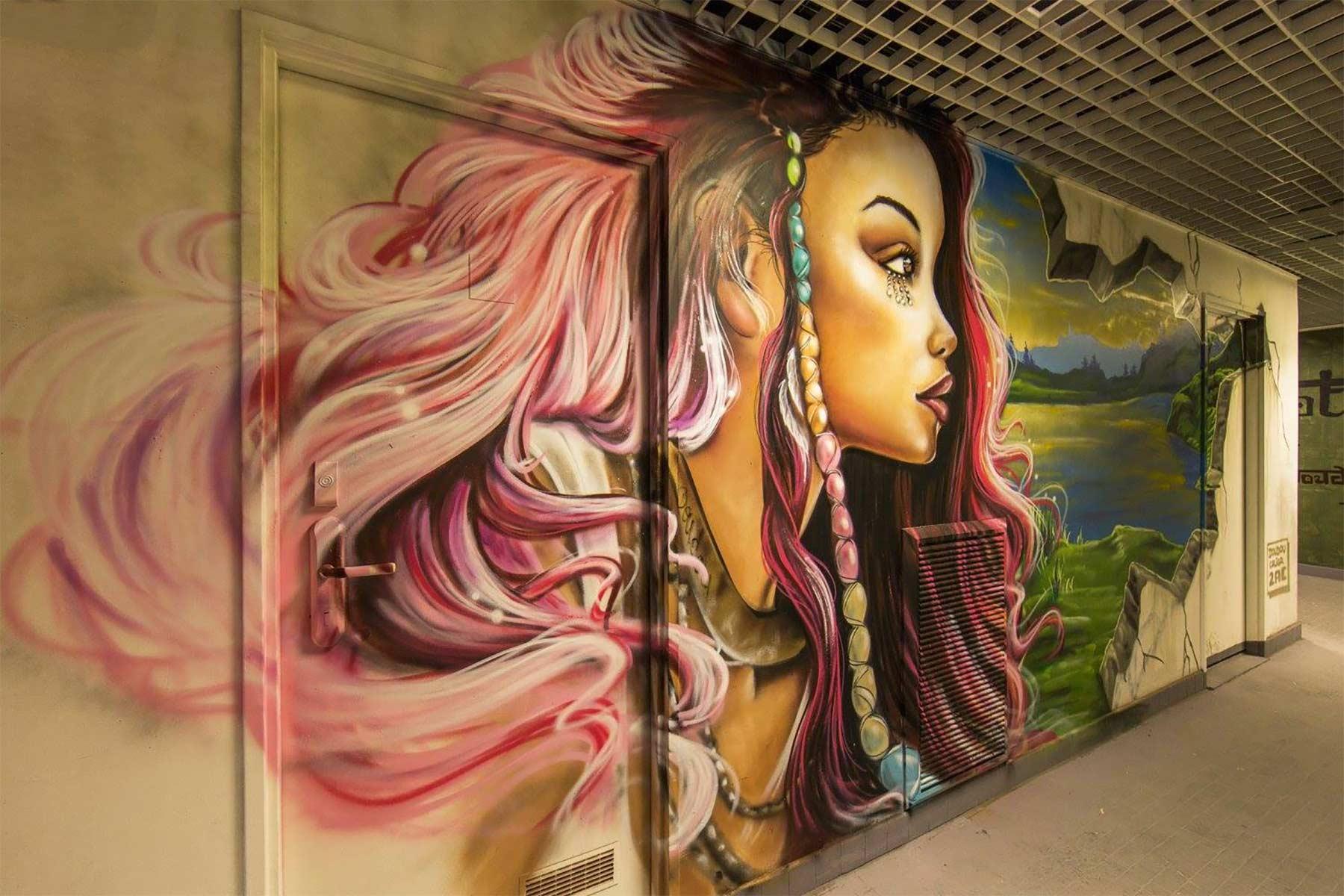 100 Graffiti-Künstler haben dieses Studentenwohnheim verschönert