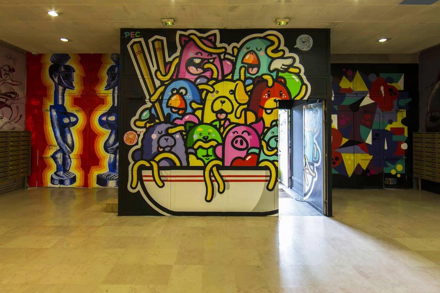100 Graffiti-Künstler haben dieses Studentenwohnheim verschönert Cite-Internationale-Universitaire-Paris-Rehab2_02