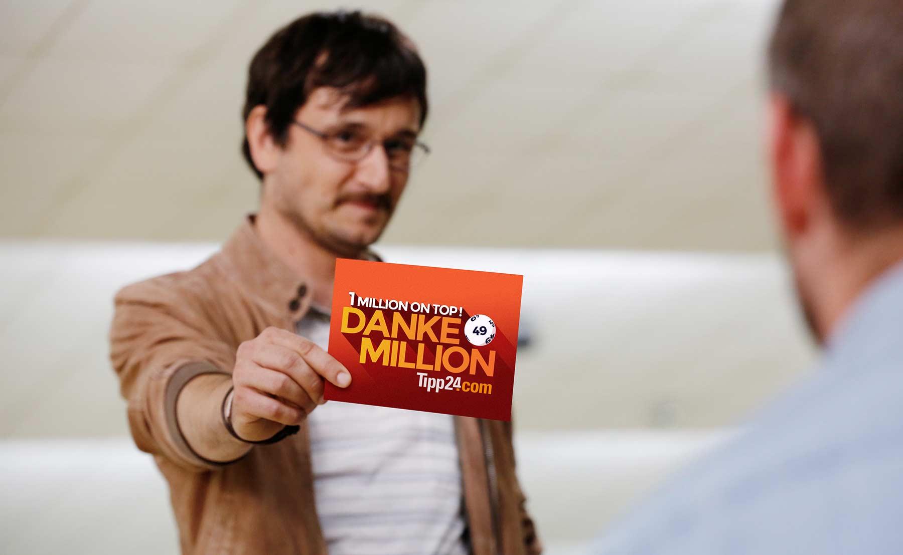 Besonderes Freundschafts-Geschenk: die DANKE-MILLION Tipp24-DankeMillion_01
