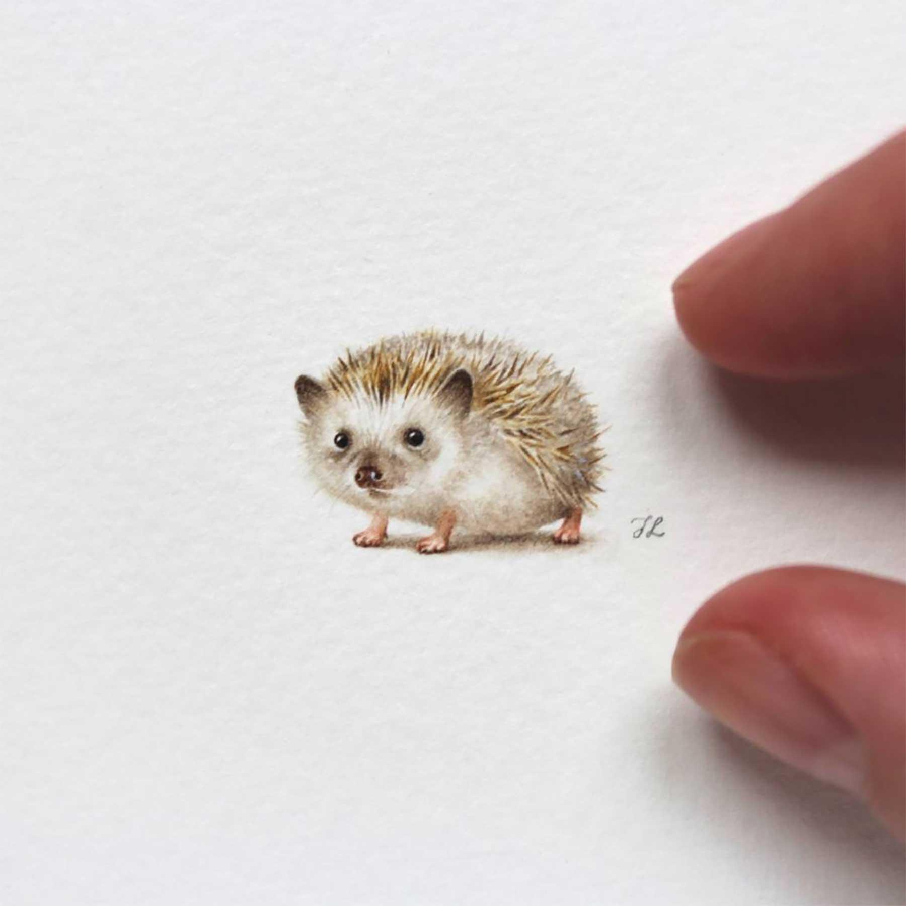 Miniatur-Wasserfarb-Tiere