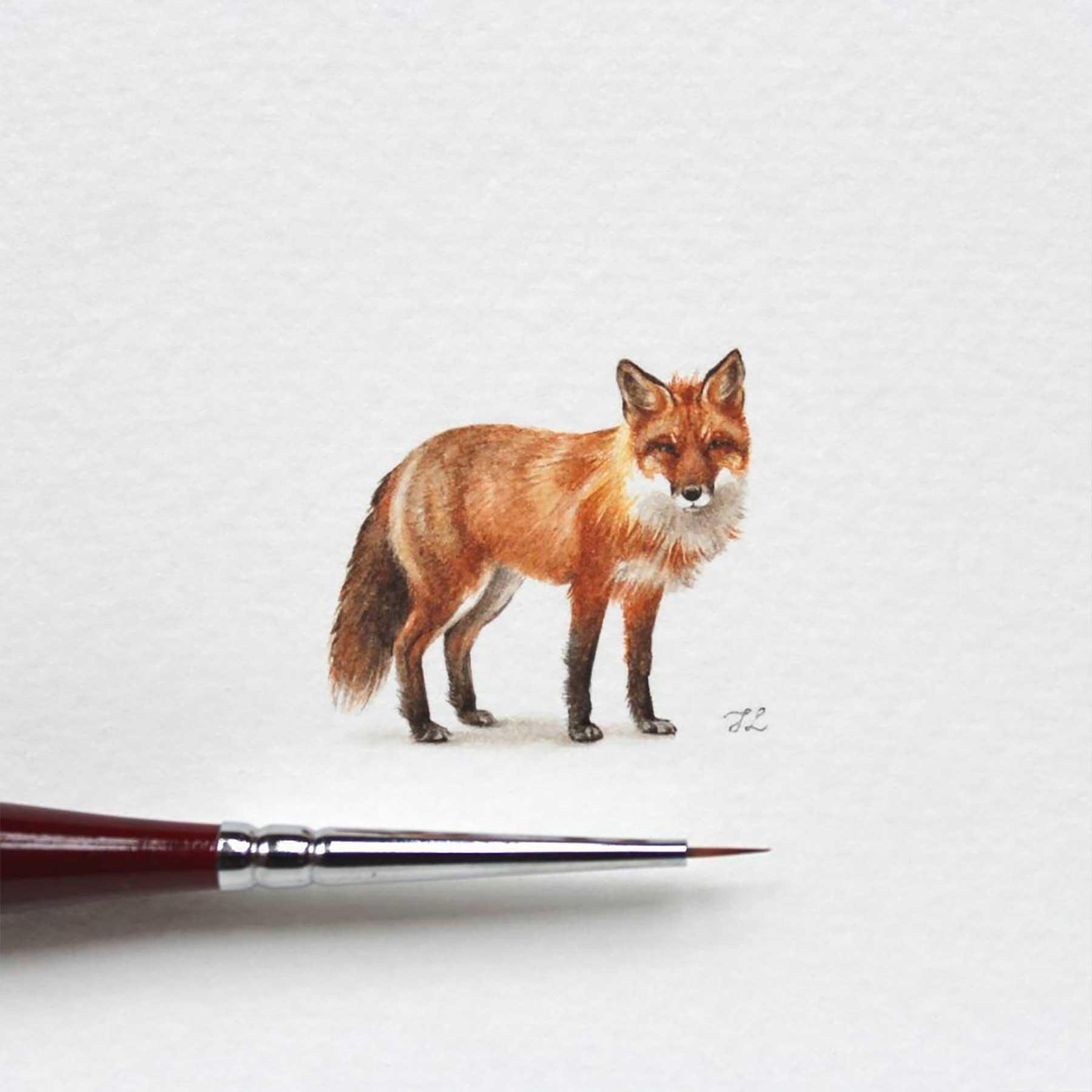 Miniatur-Wasserfarb-Tiere julia-las-wasserfarbe-tierportraits_02