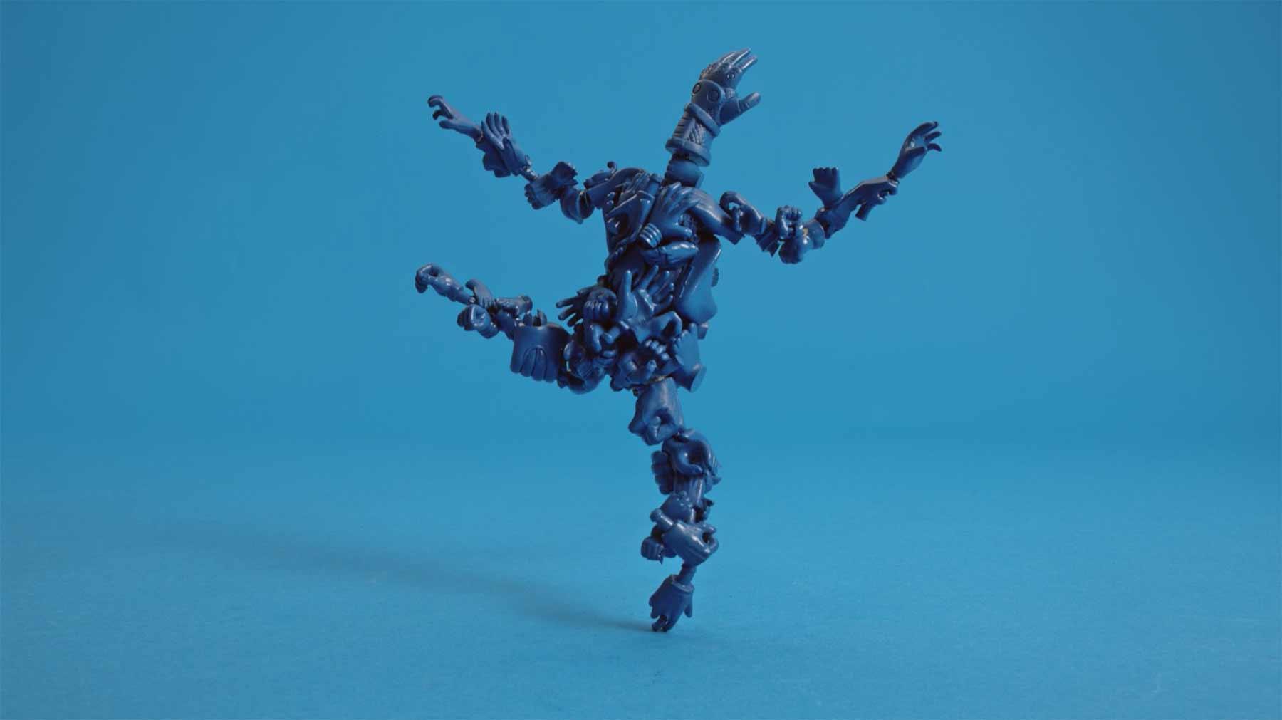 Künstlerische Porzellanfigur-Stopmotion