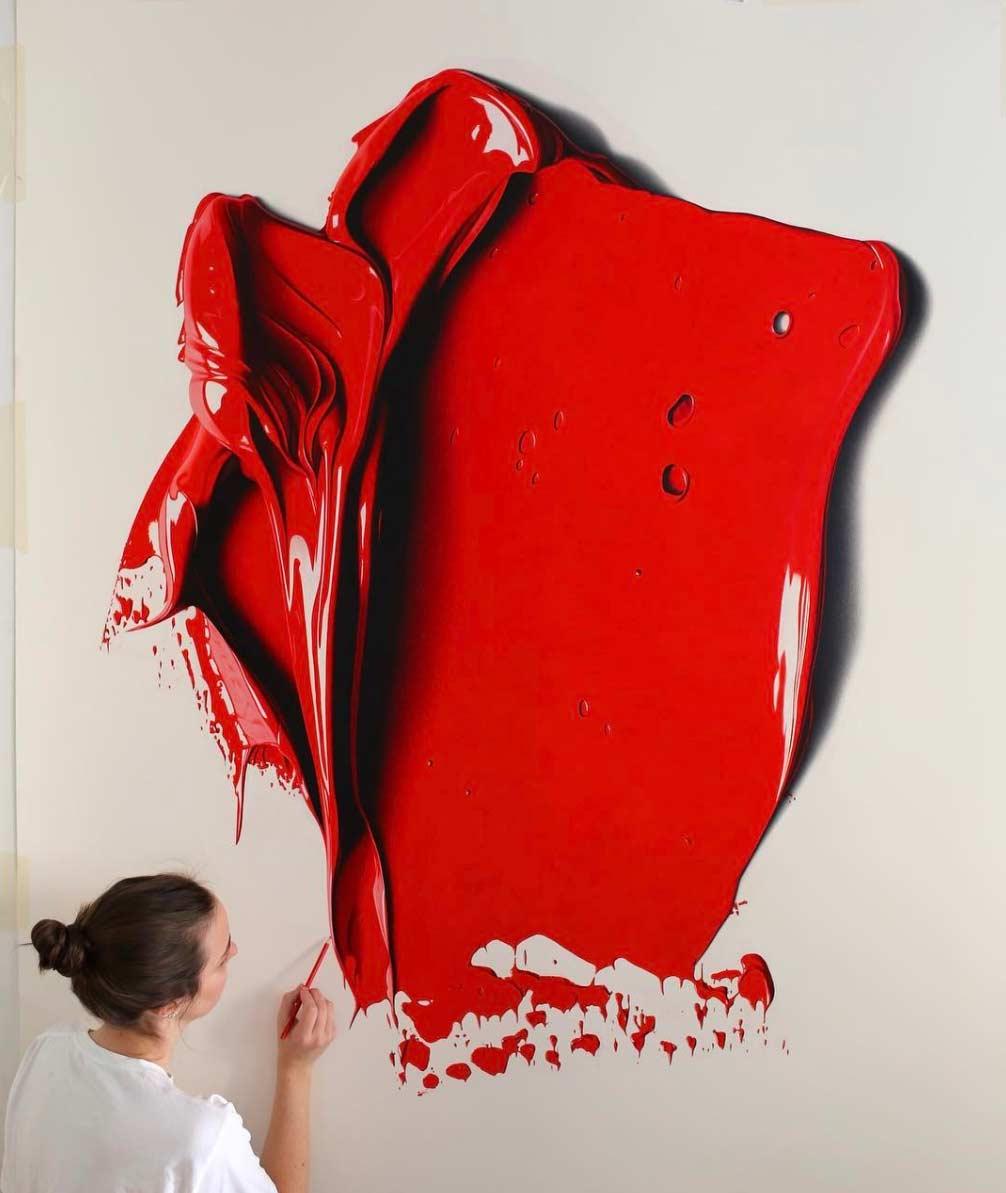 Ultrarealistisch Gezeichnete Farbkleckse CJ-Hendry-complementary-colors_05