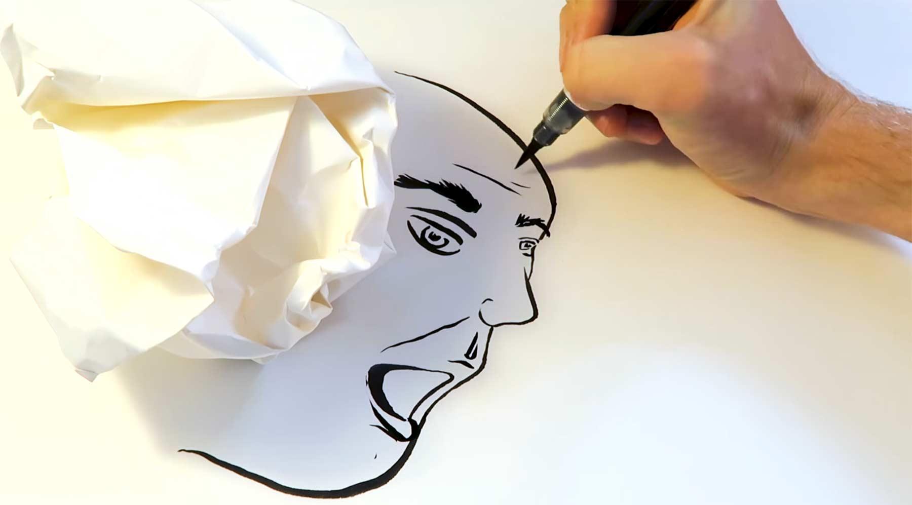 Zeichnen anhand von Schattenumrissen Guy-Larsen-Schattenzeichnungen