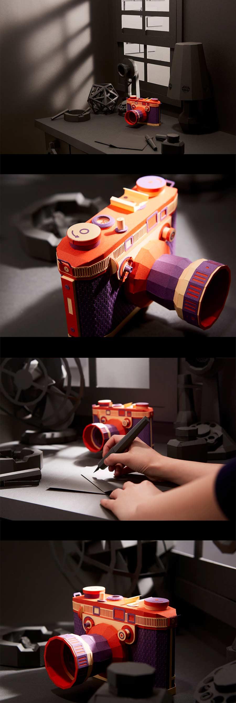 Retro-Kameras aus Papier Lee-Ji-Hee_02