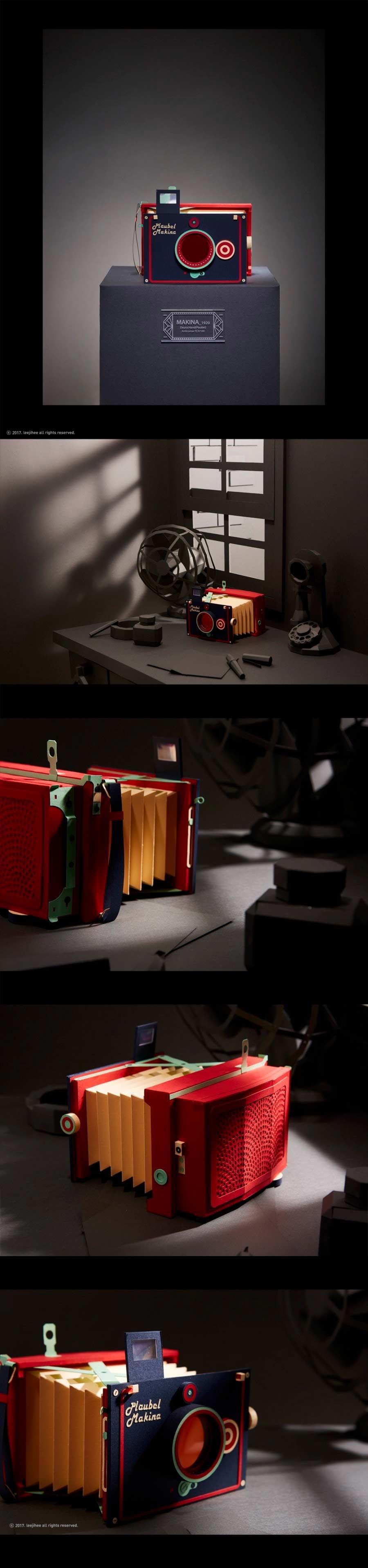 Retro-Kameras aus Papier Lee-Ji-Hee_03