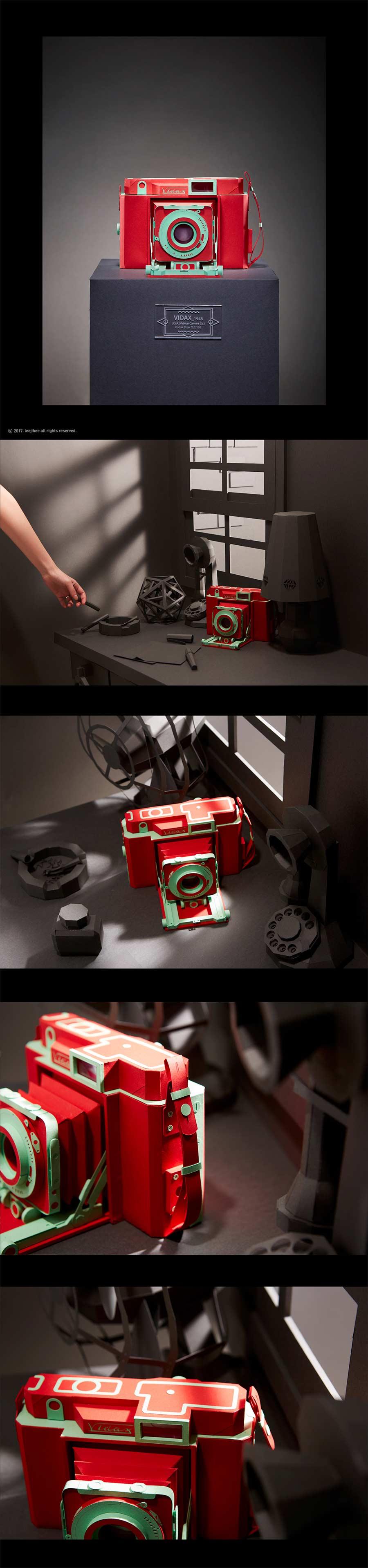 Retro-Kameras aus Papier Lee-Ji-Hee_04