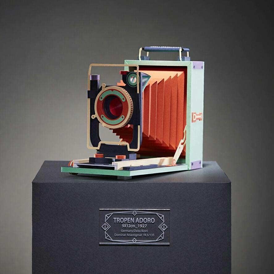 Retro-Kameras aus Papier Lee-Ji-Hee_06