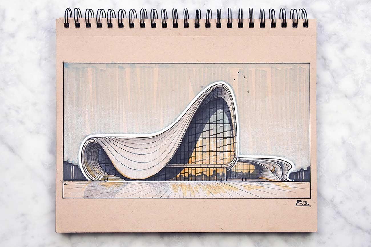 Blick in das Skizzenbuch eines Architekten Reid-Schlegel_01