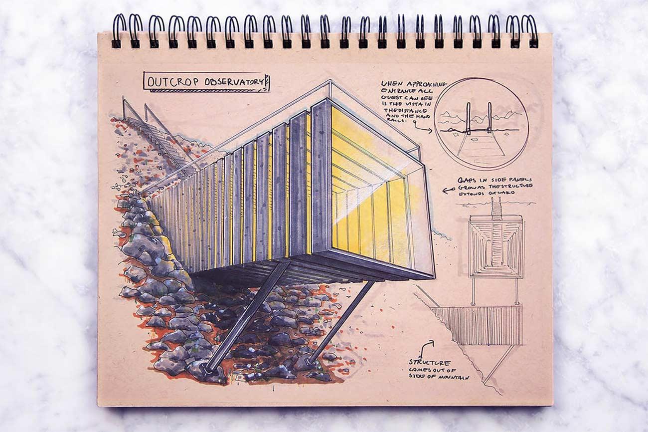 Blick in das Skizzenbuch eines Architekten Reid-Schlegel_02