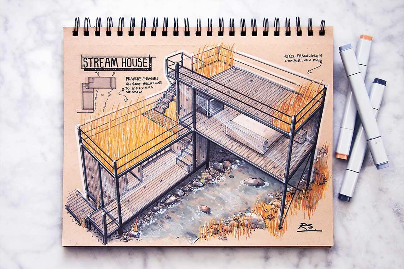 Blick in das Skizzenbuch eines Architekten Reid-Schlegel_05