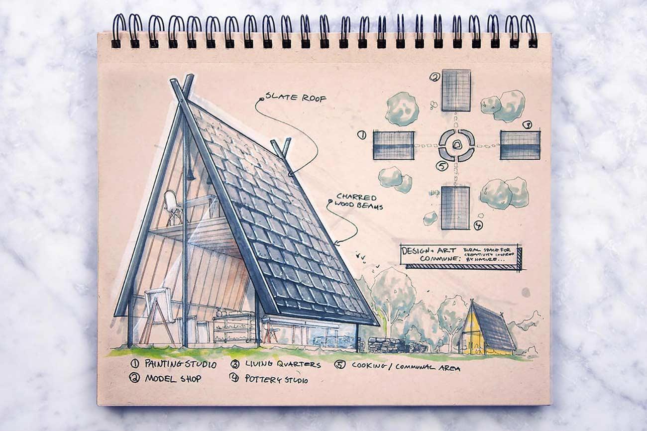 Blick in das Skizzenbuch eines Architekten Reid-Schlegel_06