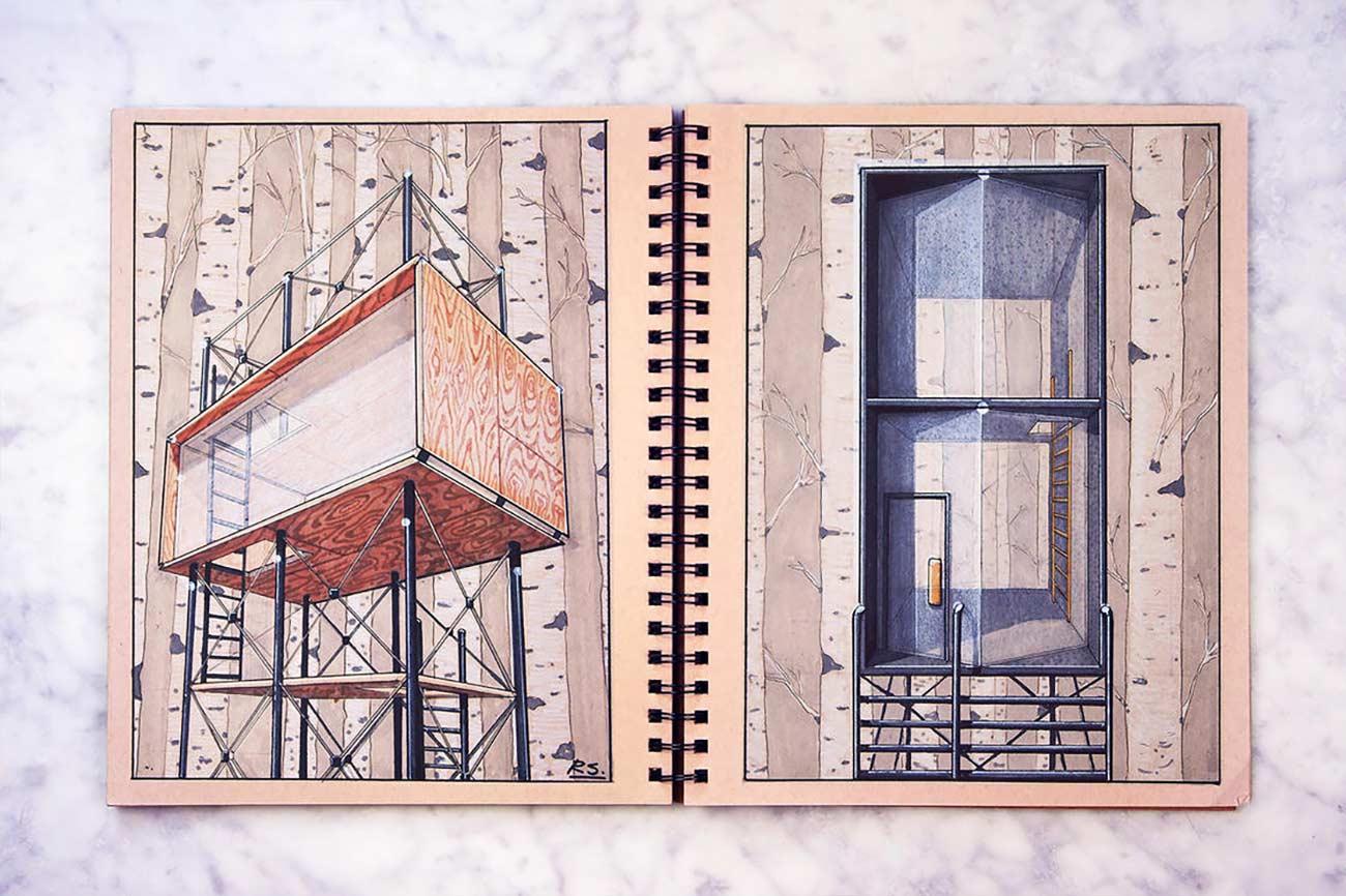 Blick in das Skizzenbuch eines Architekten Reid-Schlegel_08