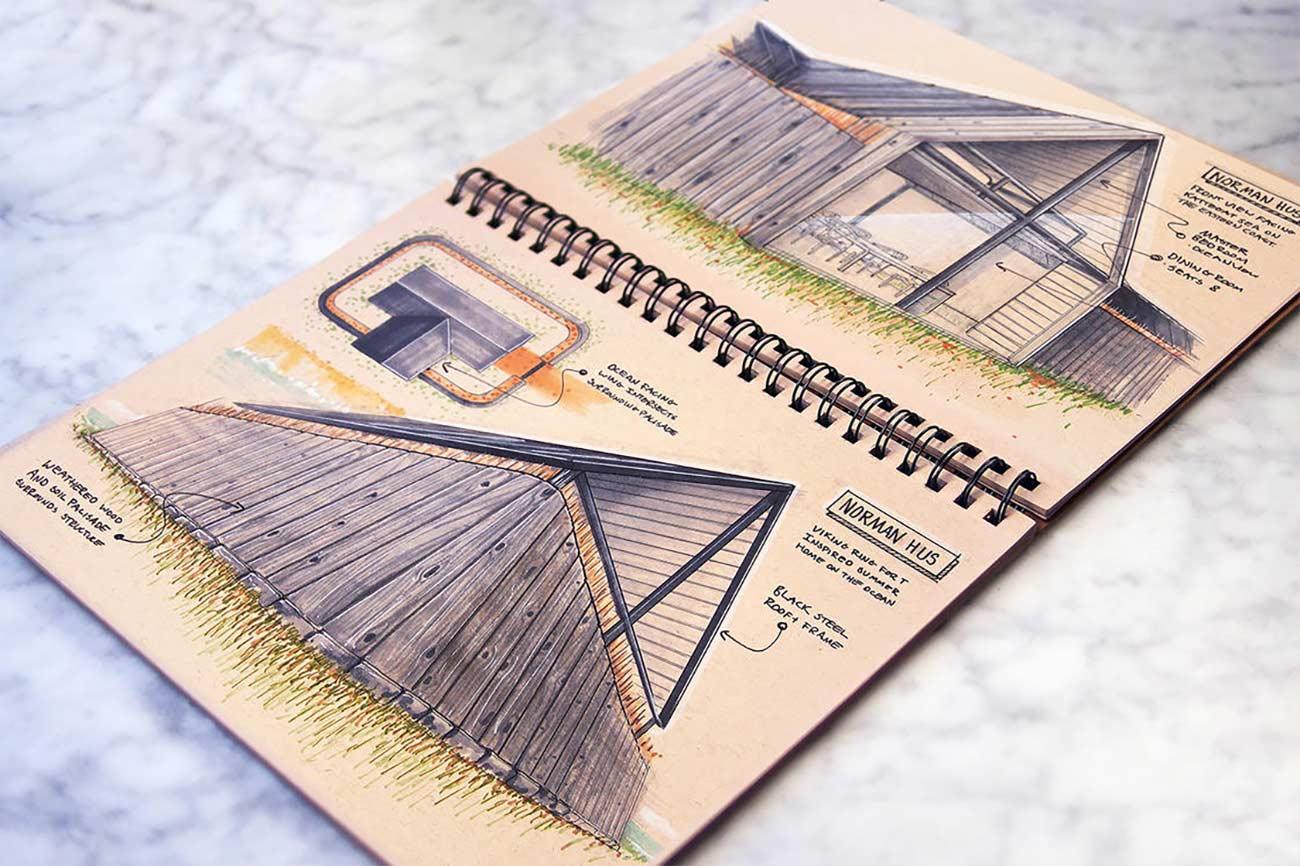 Blick in das Skizzenbuch eines Architekten Reid-Schlegel_09