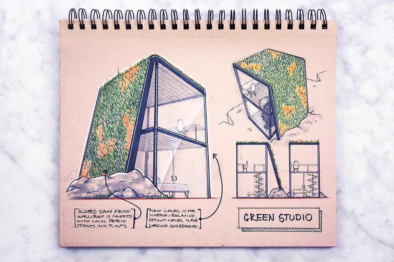 Blick in das Skizzenbuch eines Architekten Reid-Schlegel_10