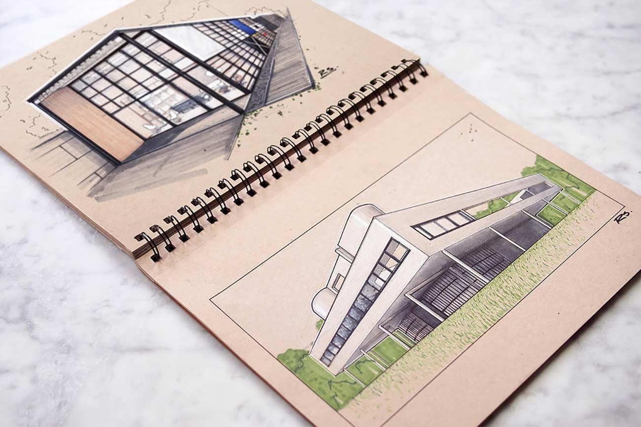 Blick in das Skizzenbuch eines Architekten Reid-Schlegel_12