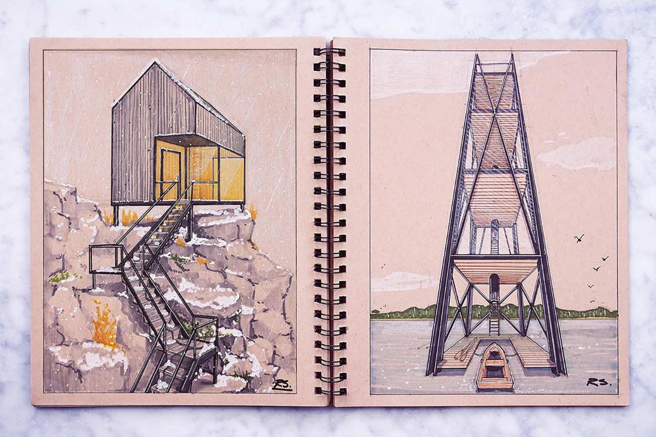 Blick in das Skizzenbuch eines Architekten Reid-Schlegel_13