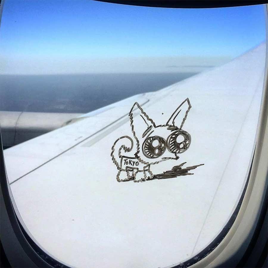 Fenstermalerei im Flugzeug Stephen-Palladino-fensterbilder_05