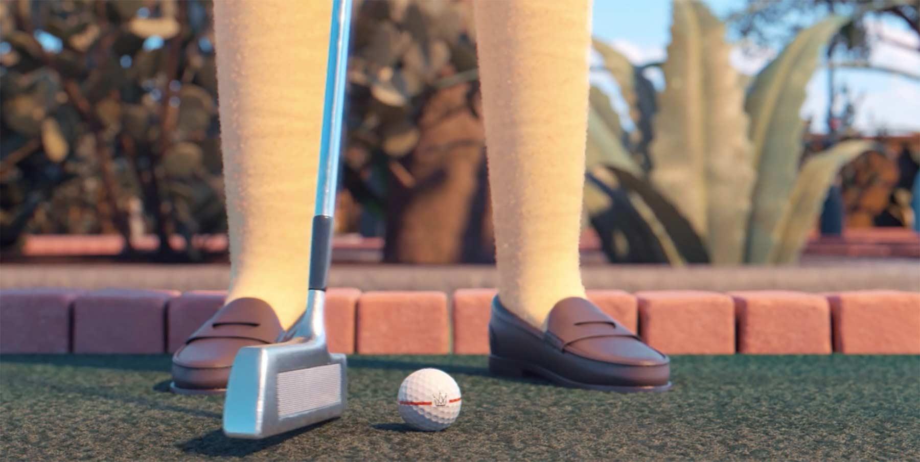 Schön animiertes Minigolf-Duell