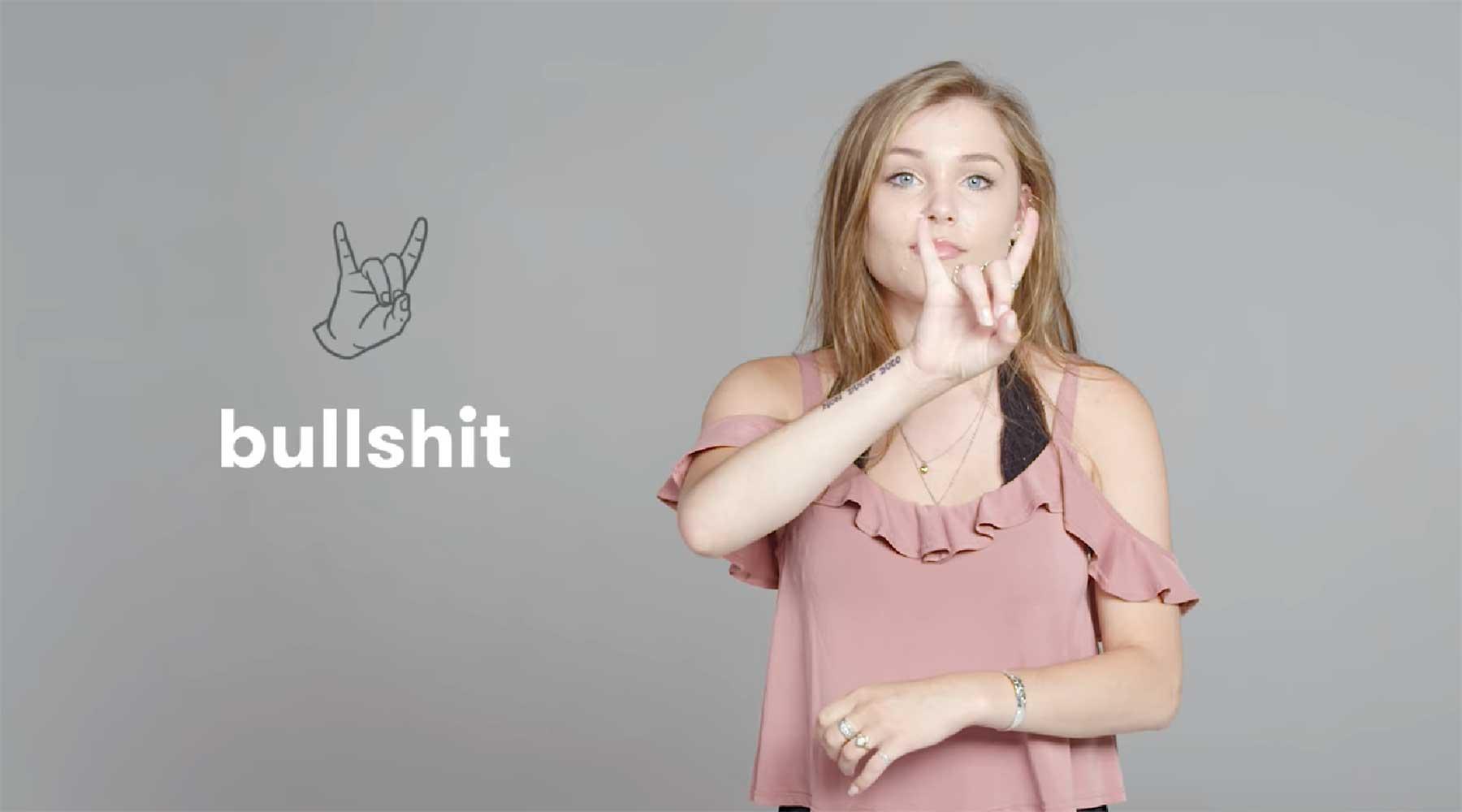 Schimpfwörter in Zeichensprache