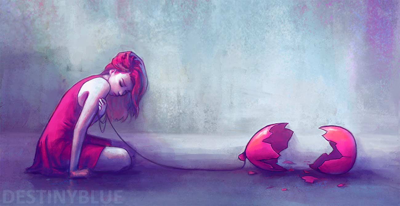 Illustrationen gegen die Depression destinyblue-illustration_04