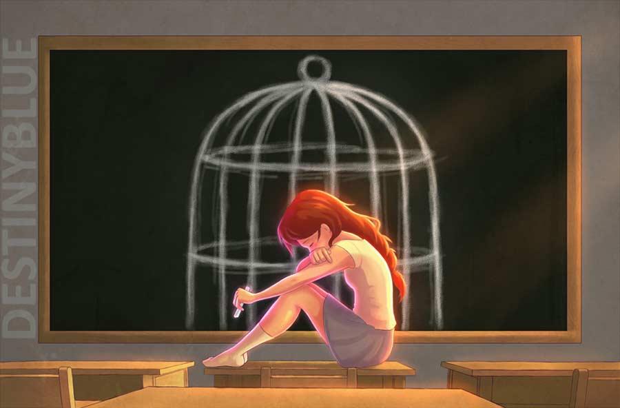 Illustrationen gegen die Depression destinyblue-illustration_05