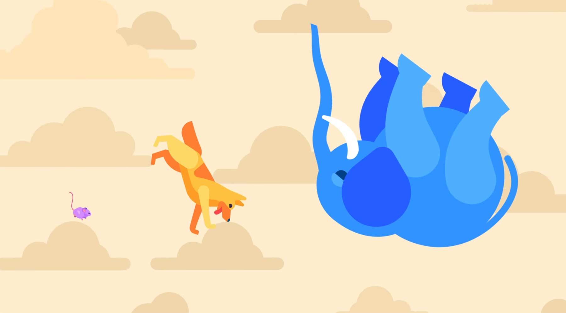 Fallen eine Maus, ein Hund und eine Elefant vom Hochhaus... elefant-vom-hochhaus-geworfen