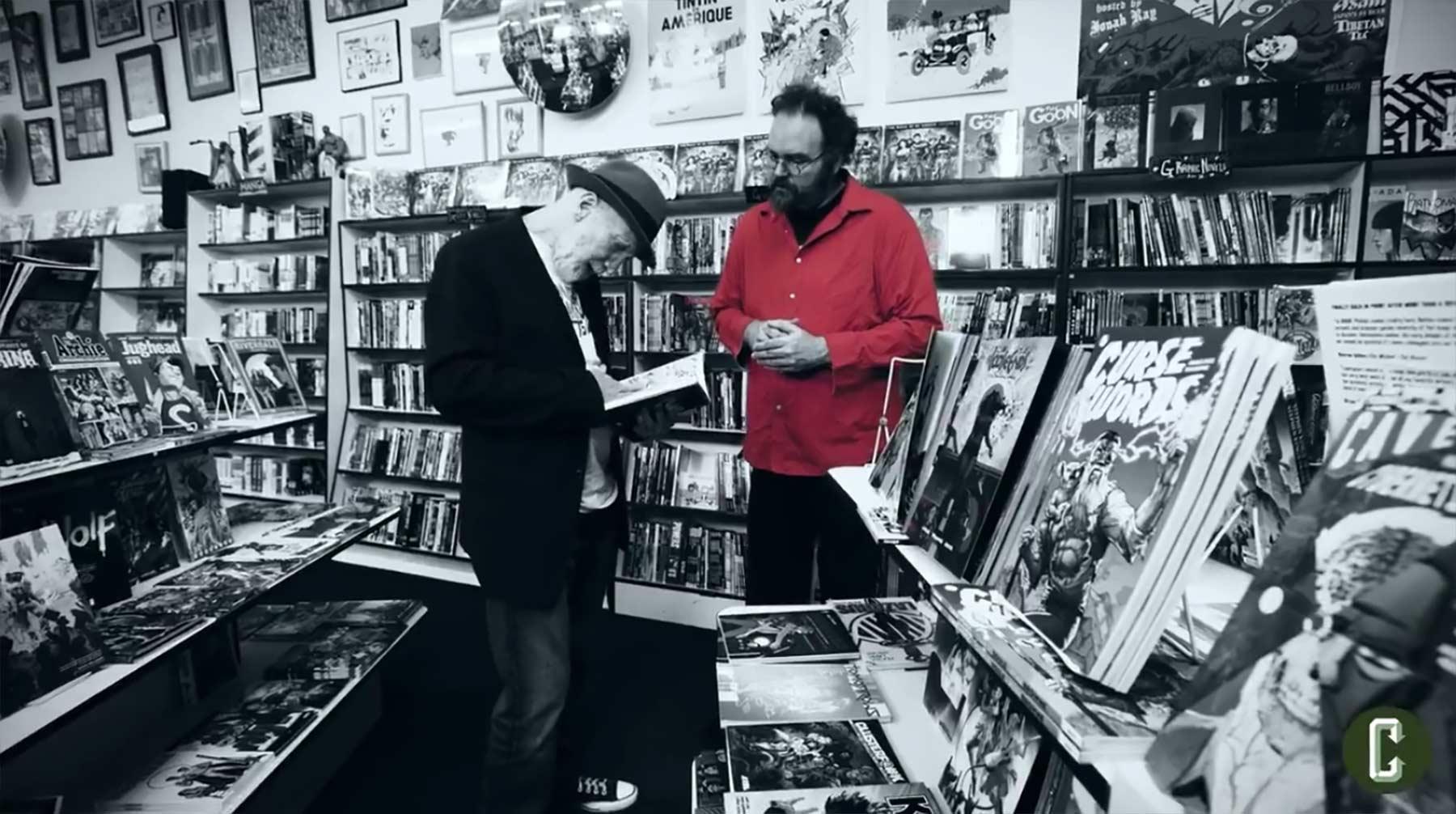 Mit Frank Miller im Comicladen