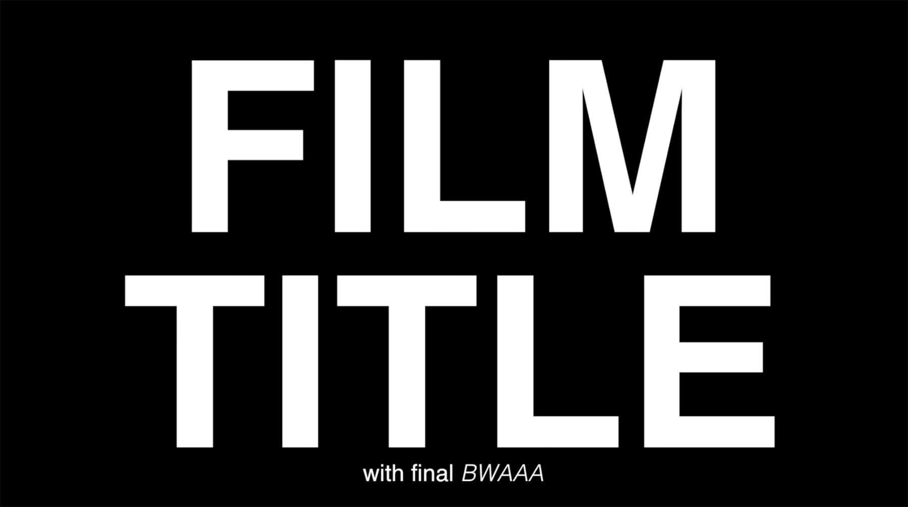 Generischer Trailer für einen Hollywood-Blockbuster