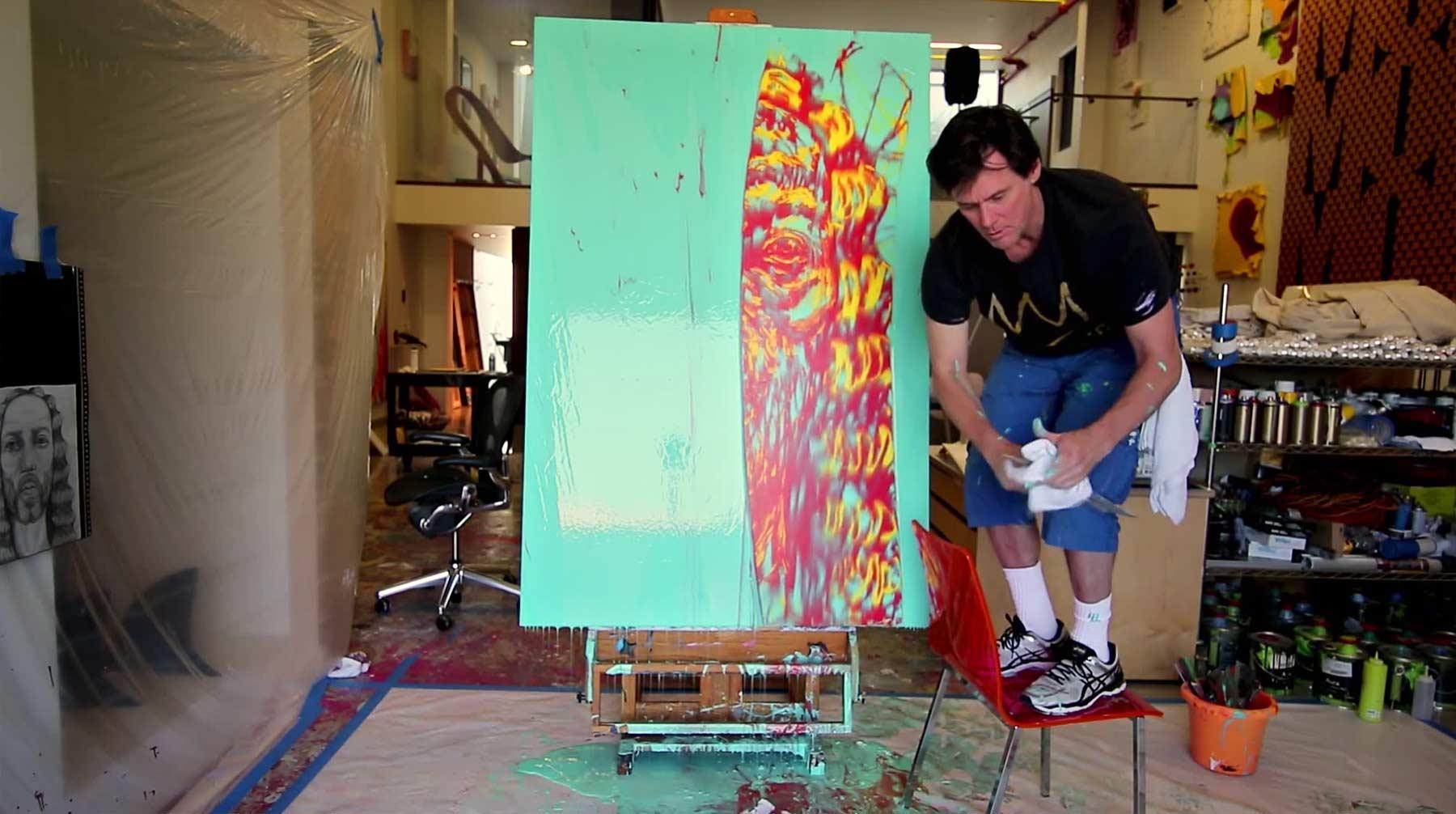 Jim Carrey ist unter die Maler gegangen jim-carrey-malt