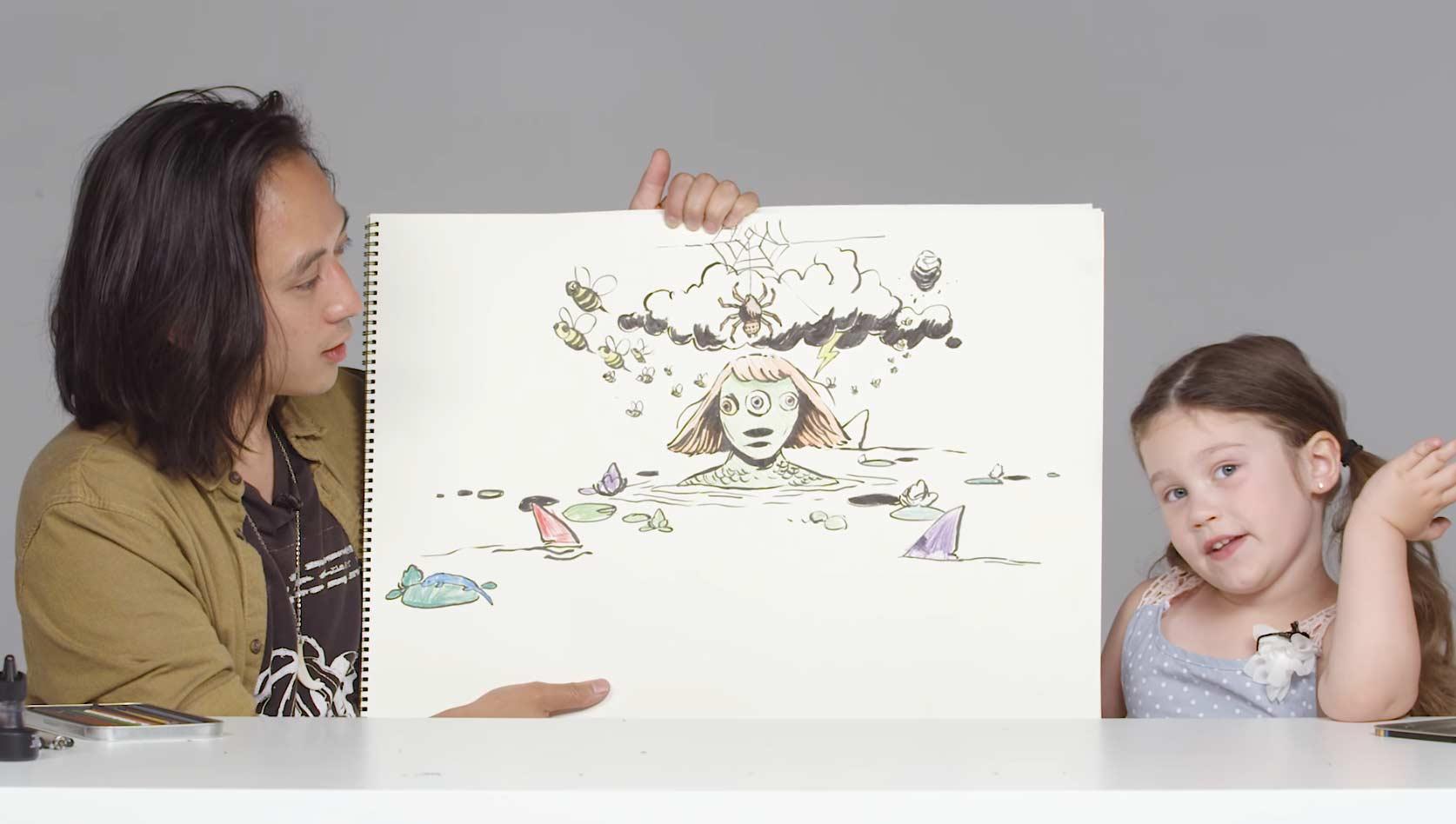 Kinder beschreiben Illustrator ihre größten Ängste kinder-groesste-aengste