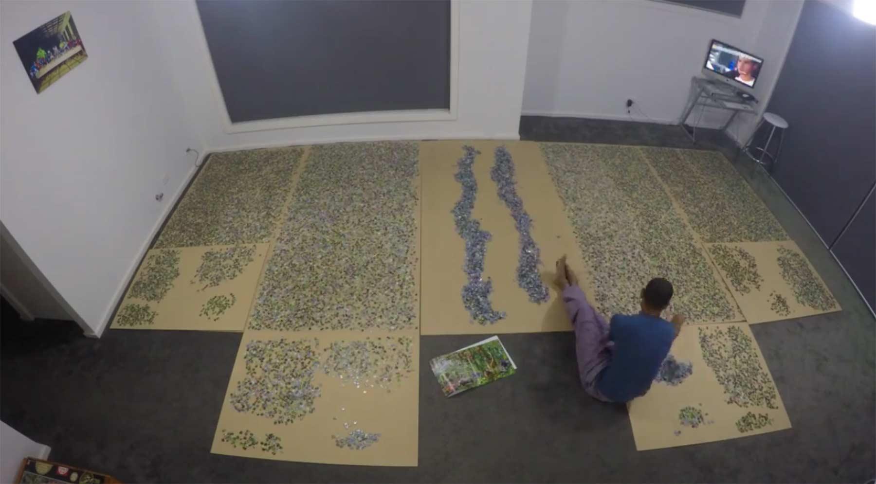 Timelapse: Bau eines Puzzles mit 33.600 Teilen