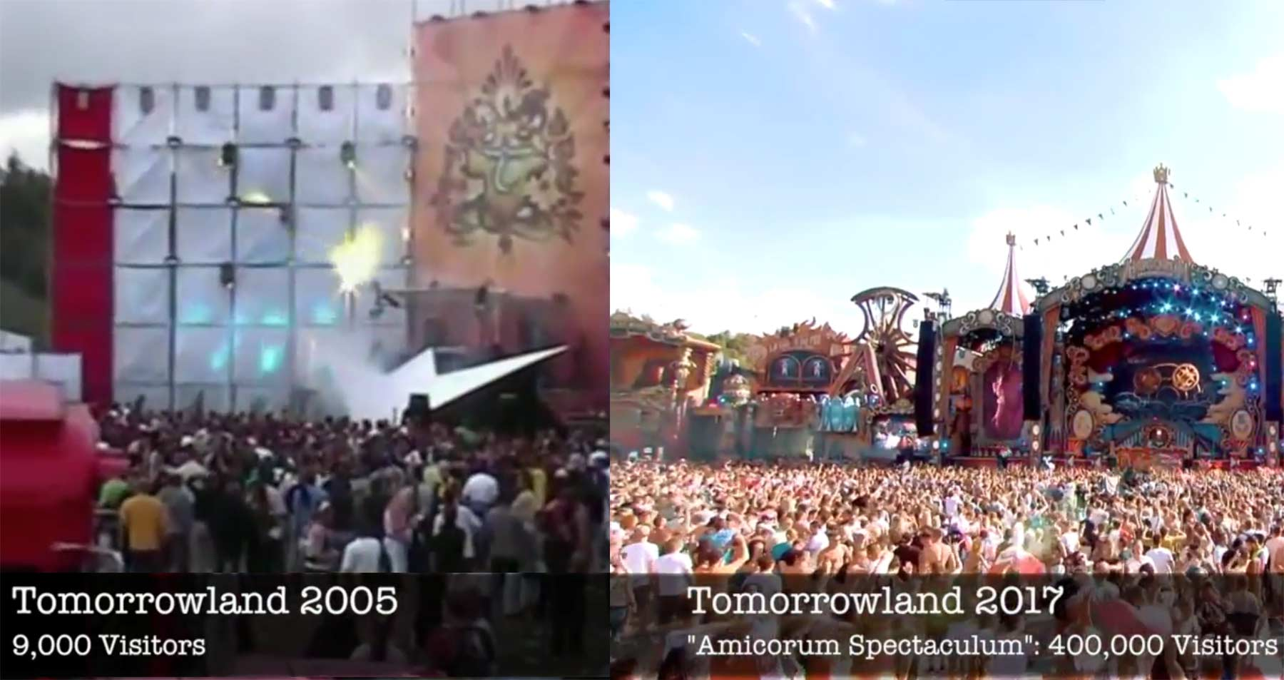 Die Evolution der Main Stage des Tomorrowland Festivals