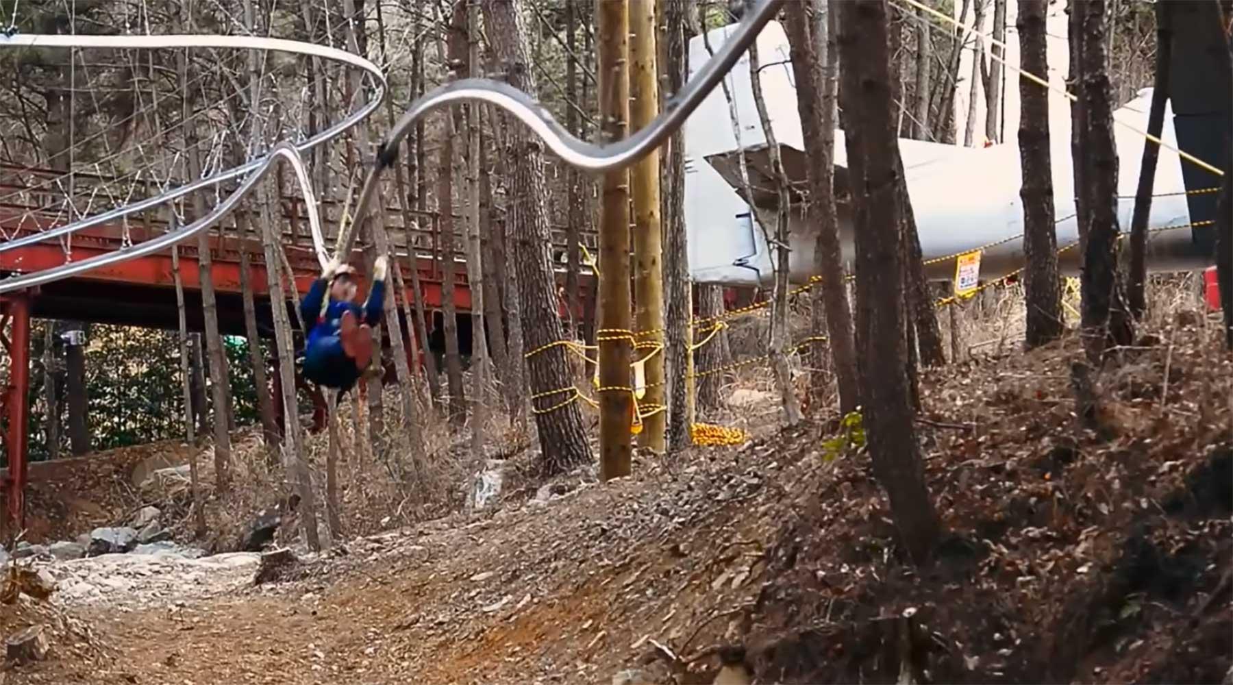 Achterseilbahn zipline-achterbahn