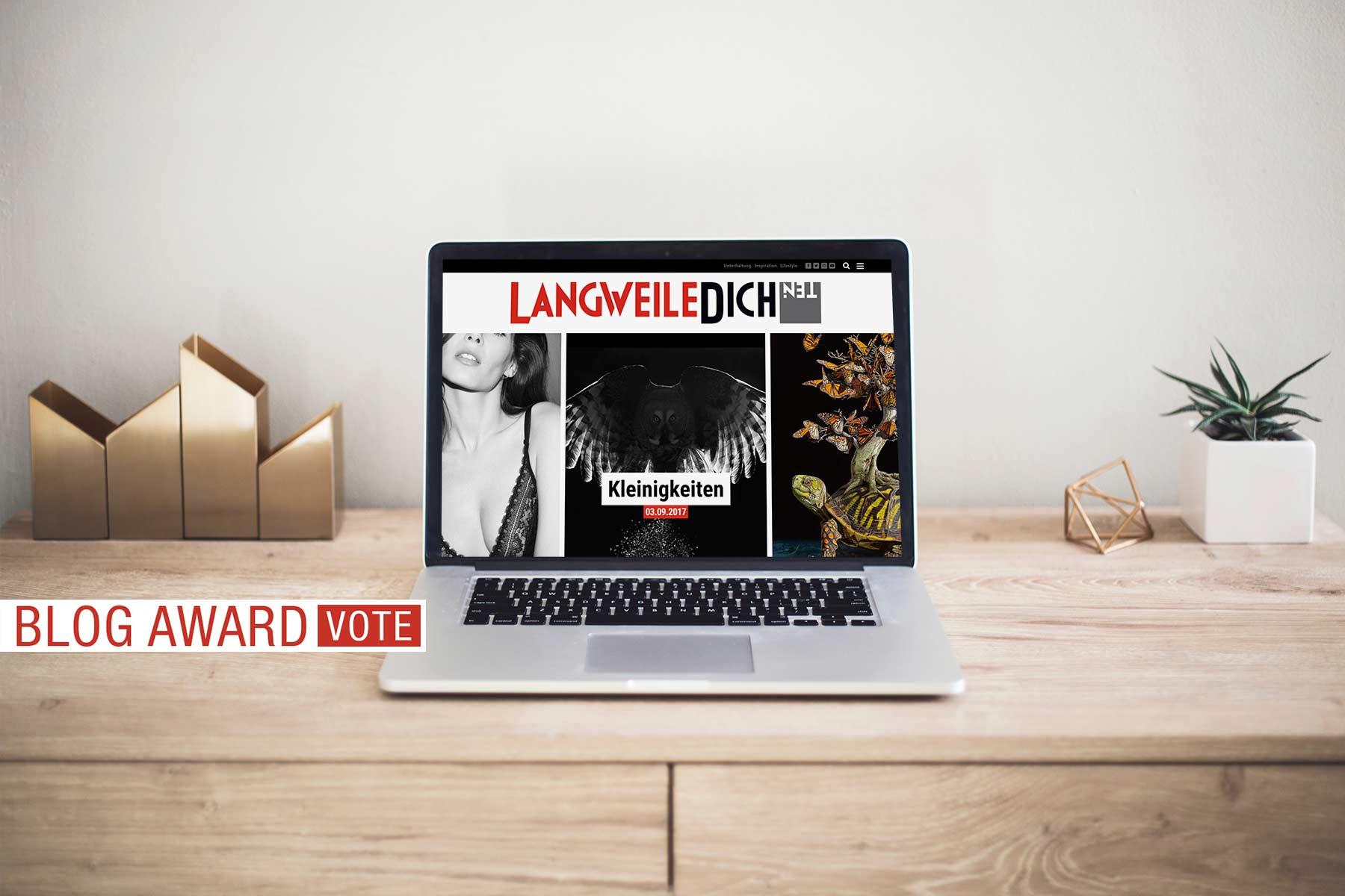 Votet für LangweileDich.net beim Blog Award 2017