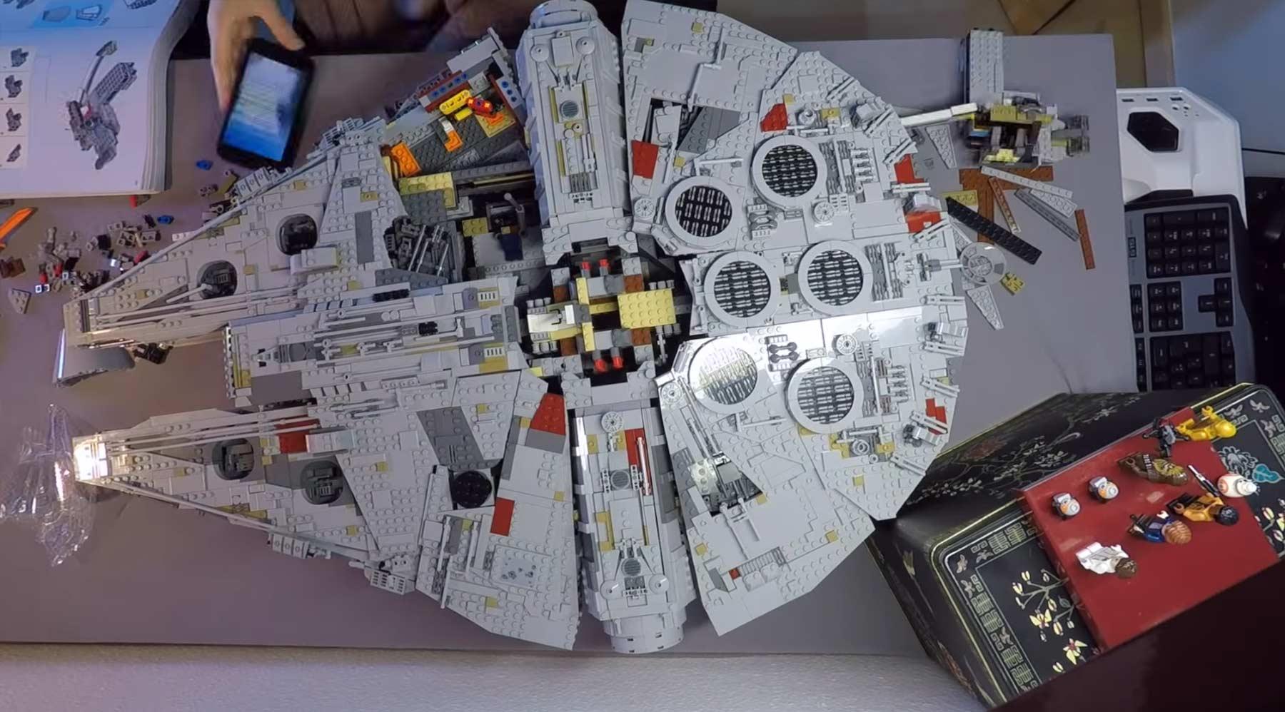 Timelapse: Bau des neuen LEGO-Millenium Falcon