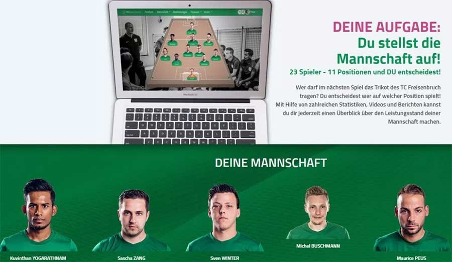 Für 5 Euro könnt ihr Manager dieses Kreisligisten werden Manager-TC-Freisenbruch