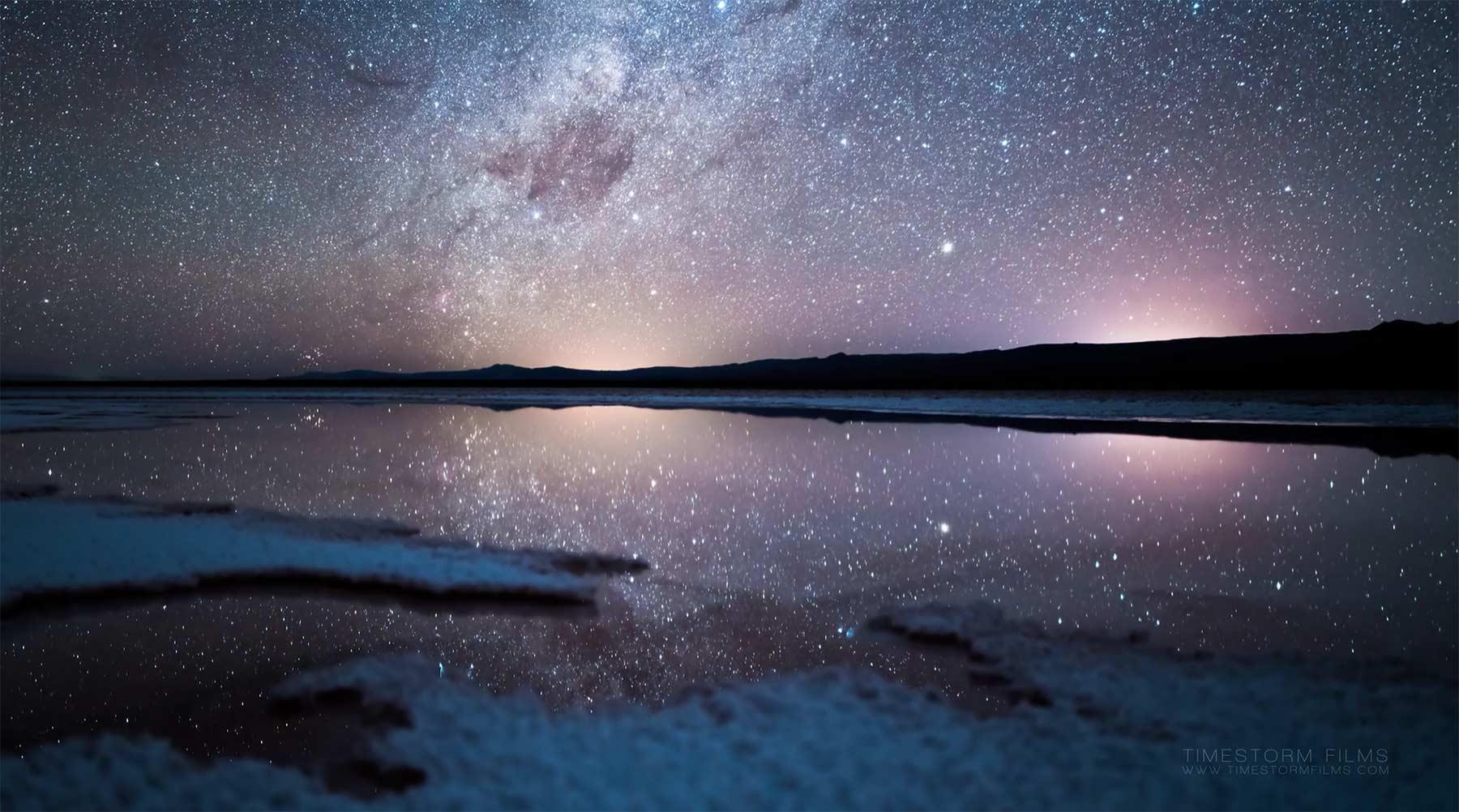 Timelapse einer wunderschönen Wüstennacht NOX-ACATAMA-timelapse
