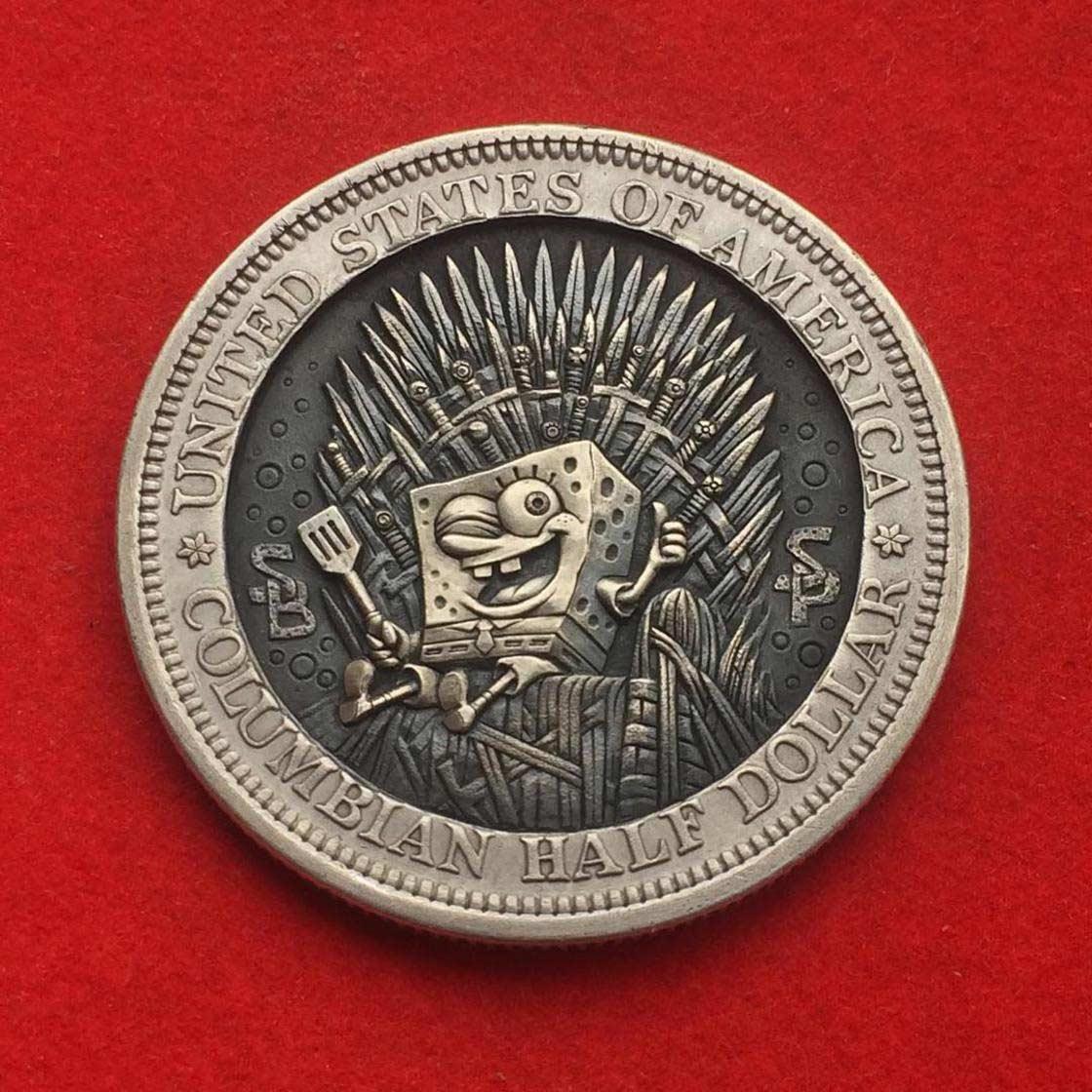 Wenn Münzen zu Popkultur-Skulpturen werden Roman-Booteen-hobo-nickel_01
