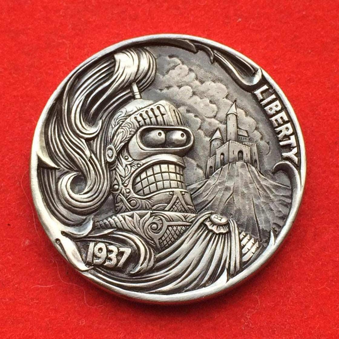 Wenn Münzen zu Popkultur-Skulpturen werden Roman-Booteen-hobo-nickel_02