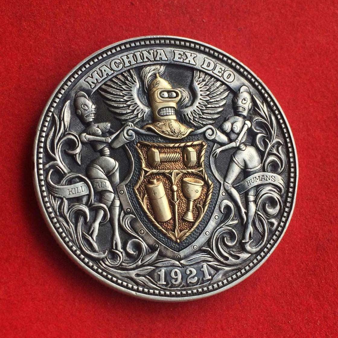 Wenn Münzen zu Popkultur-Skulpturen werden Roman-Booteen-hobo-nickel_09